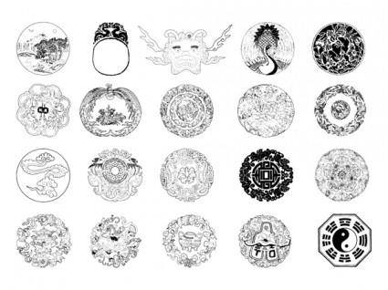 free vector Chinese classical vector of fifteen