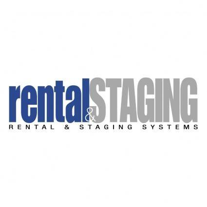 Rental staging systems