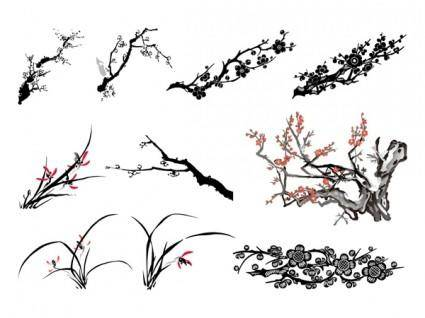 free vector The third classical plant vector