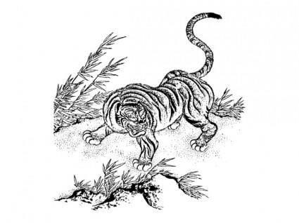 free vector Vector tiger classic