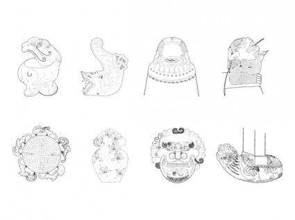 free vector Local construction of classical chinese instruments vector