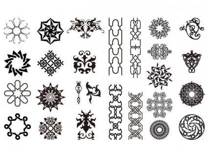free vector Go media produced vector set15arabesque trend