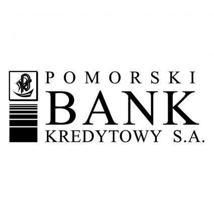 free vector Pomorski bank kreditowy