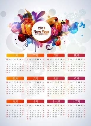 free vector Fun calendar year 2011