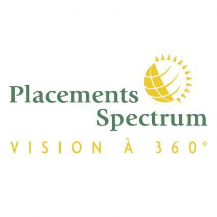 free vector Placements spectrum
