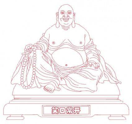 free vector Laughing buddha vector