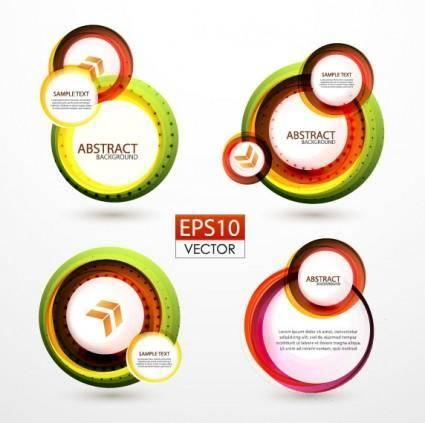 free vector Colorful ring label 01 vector