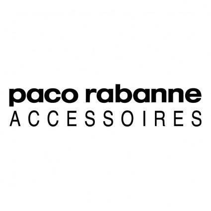 free vector Paco rabanne accessoires