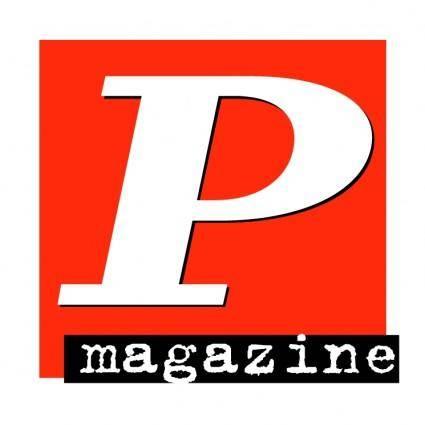 free vector P magazine