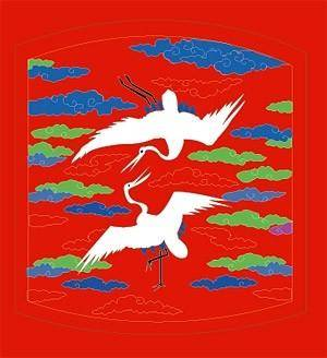 Classical chinese auspicious crane map vector