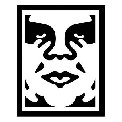 free vector Obey the giant