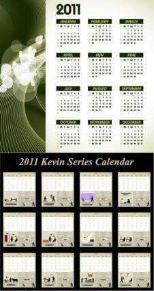 free vector Two vector calendar 2010