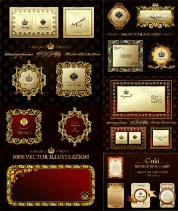 free vector European gorgeous classic frame vector
