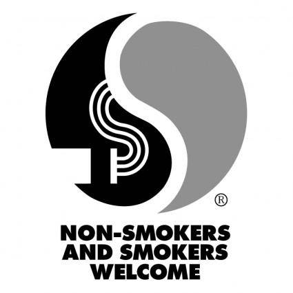 free vector Non smokers and smokers welcome