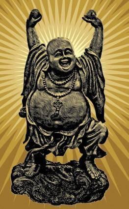 free vector Vector buddha