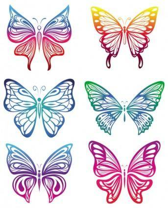 Butterfly paper cutting vector