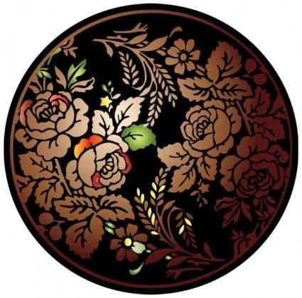 Colorful folk art painting 04 vector