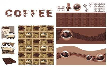 free vector About vector with coffee