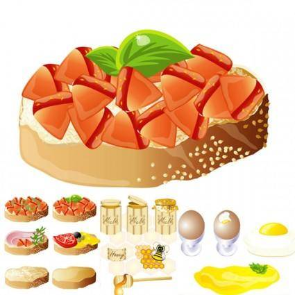 Rich and delicious food vector