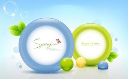 free vector Fresh threedimensional color vector 1 ring