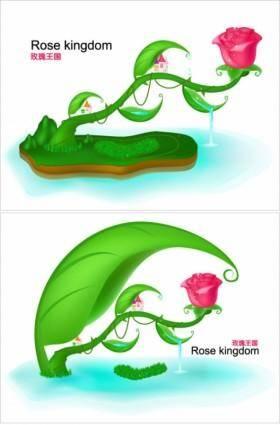 Rose fairytale world original vector