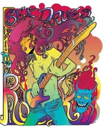 free vector Vector fantasy rock star posters