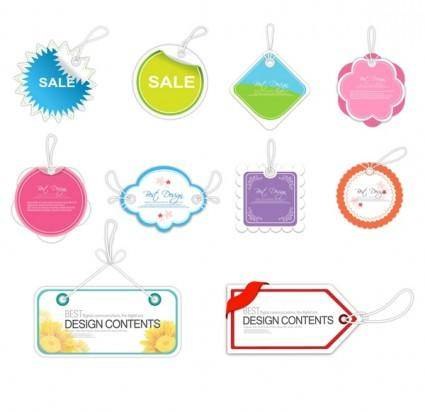 Sales tag vector cute label