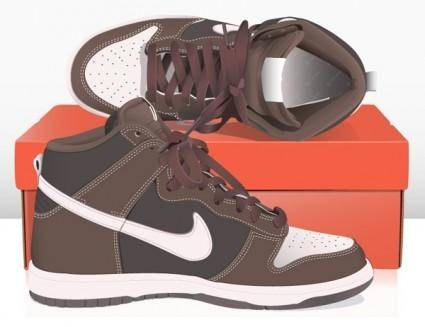 Fine nike shoes vector