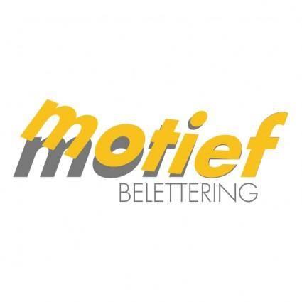 Motief belettering
