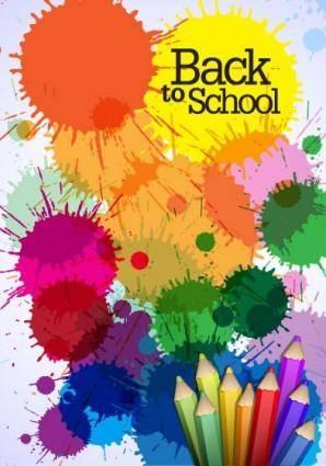 free vector Color pencil illustrations 02 vector