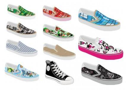 Vector canvas shoes original