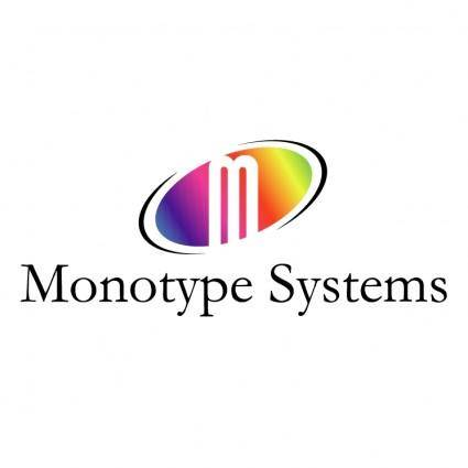 free vector Monotype systems