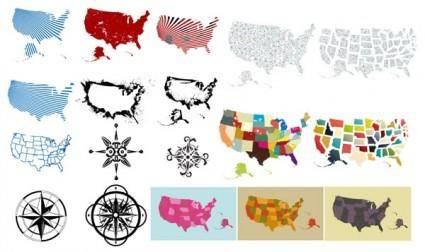 free vector Gomedia produced map compass vector