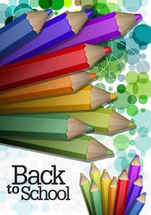 free vector Color pencil illustrations 03 vector