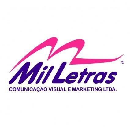 free vector Mil letras