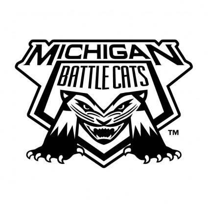 free vector Michigan battle cats