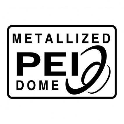 Metallized pei dome