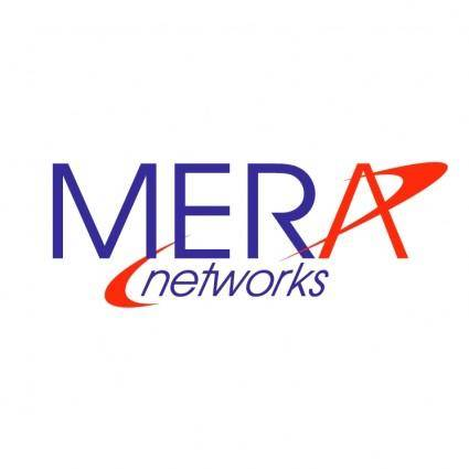 free vector Mera networks
