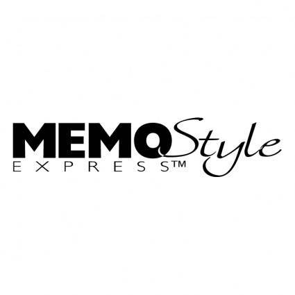 free vector Memostyle express