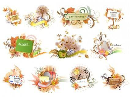 free vector 11 autumn theme vector