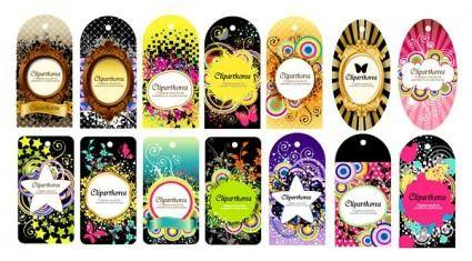 A variety of fashion label tag vector 14