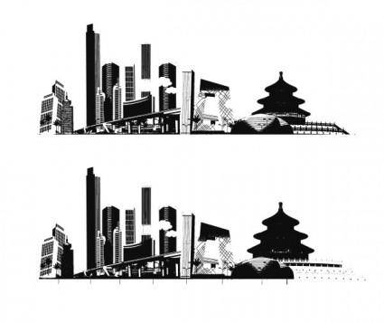 free vector Impression of beijing vector