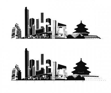 Impression of beijing vector