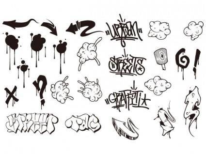 Go media produced vector set15graffiti trend