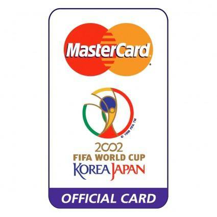 free vector Mastercard 2002 world cup sponsor