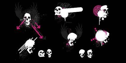 free vector Trend element vector skull and wings