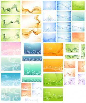 free vector Dynamic trend lines of the template vector
