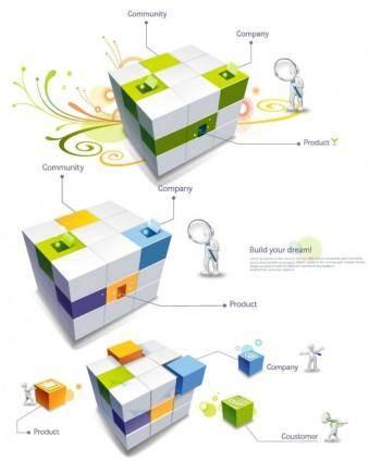 3d cube 3d villain vector