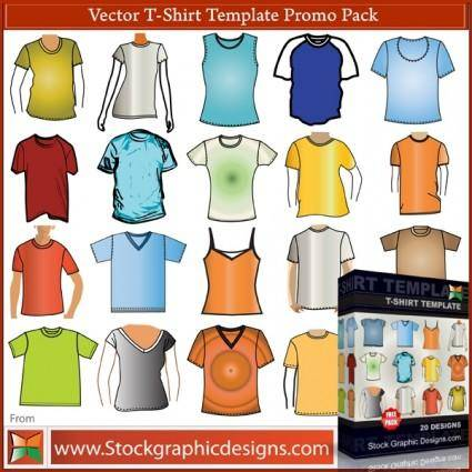 free vector Tshirt clothing vector template