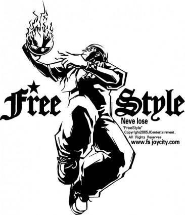 free vector Street basketball logo